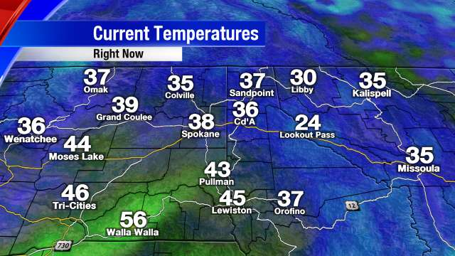 Spokane Metro Temperatures